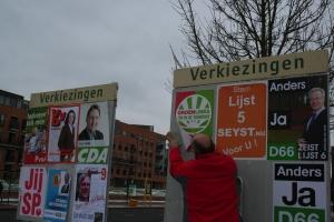 Groen Links bijplakken