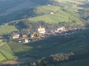 Uitzicht op Barolo vanuit Il Gelso
